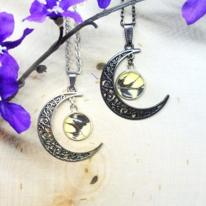 Eastern Tiger Swallowtail Moon Necklace