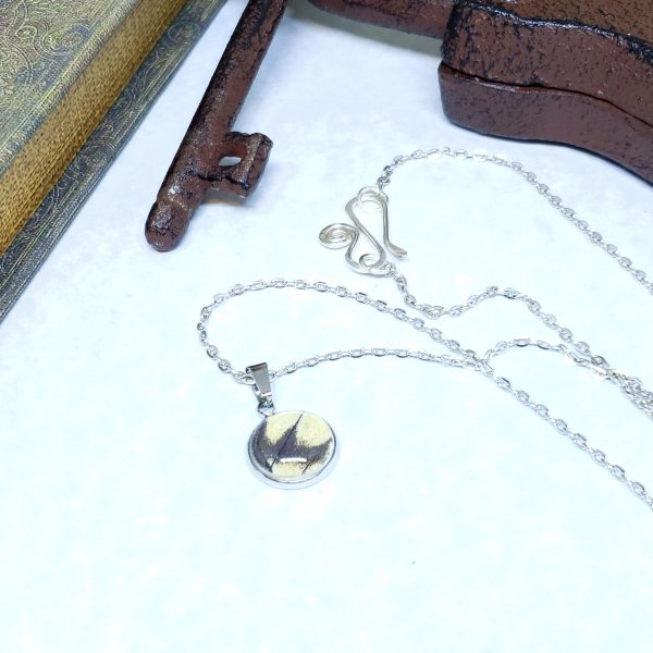 Eastern Tiger Swallowtail Butterfly Dainty Necklace