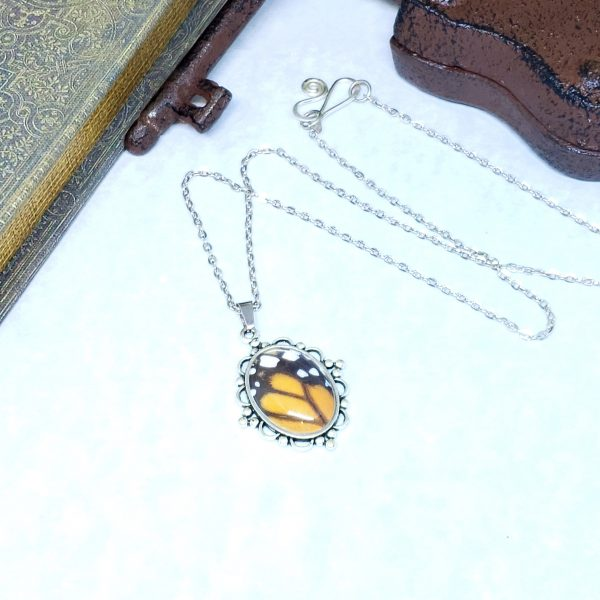 Monarch Butterfly Victorian Style Necklace