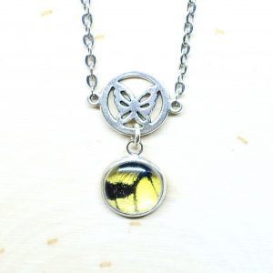 Eastern Tiger Swallowtail Butterfly Charm Necklace