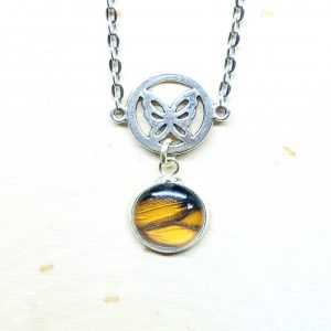 Monarch Butterfly Charm Necklace