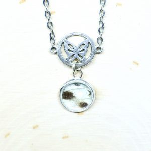Mother of Pearl Butterfly Charm Necklace