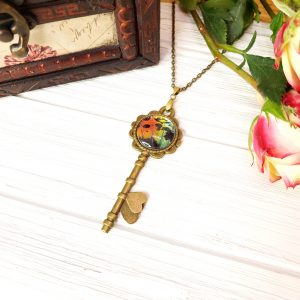 Madagascan Sunset Moth Bronze Key Necklace