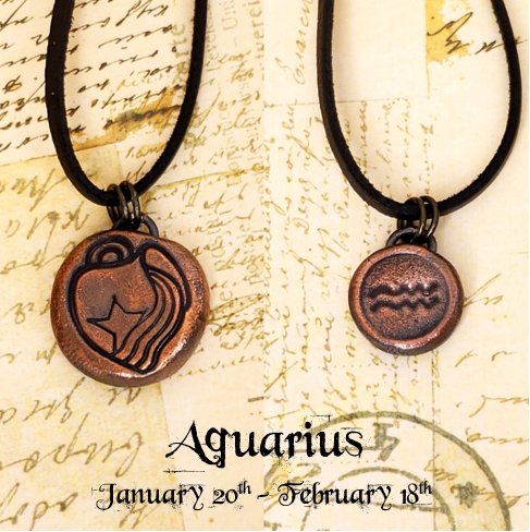 Zodiac and Horoscope Charm Necklace - Aquarius