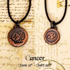 Zodiac and Horoscope Charm Necklace - Cancer