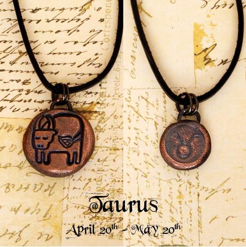 Zodiac and Horoscope Charm Necklace - Taurus